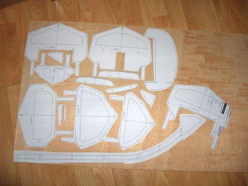 Gabarits papiers collées sur leur plaque de CTP 5 mm