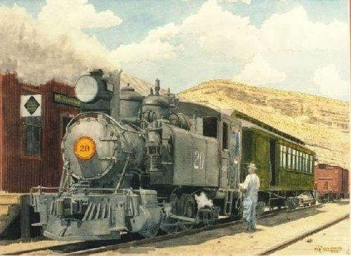 Locomotive à vapeur dans les Uintah au Nord de l'Utah