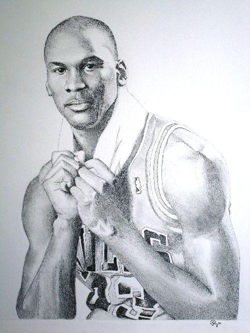 Michael jordan mars 2008 dessin aux crayons graphites sur papier