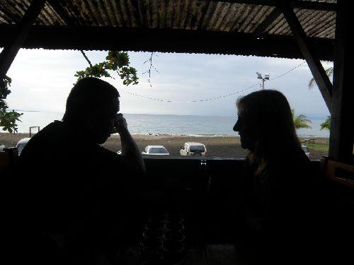 Aminata et tartaupomm à Manzanillo, Costa Rica