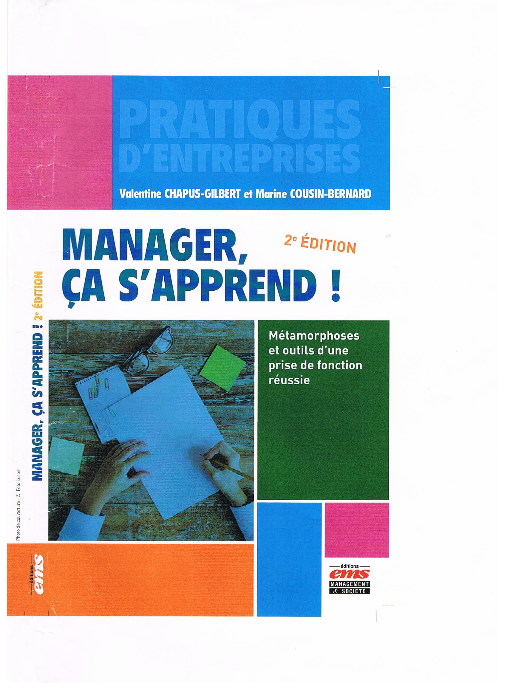 Manager ca s'apprend ! 2 eme edition 1ere de couverture 001.jpg