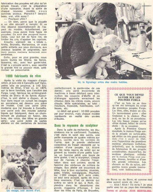 Article présentant nos 4S  : seconde page