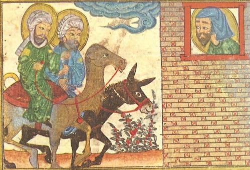 Le-Christ-sur-un-_ne-et-Mahomet-_-dos-de-chameau-Enluminure-Histoire-universelle-de-Rachid-ud-Din-1307.jpg
