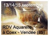 RDV DE L'AQUARELLE 13/14/15 septembre 2014 à Coex (85)