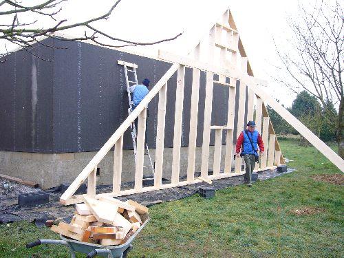 Montage de l 39 ossature maison ossature bois for Osb exterieur pluie