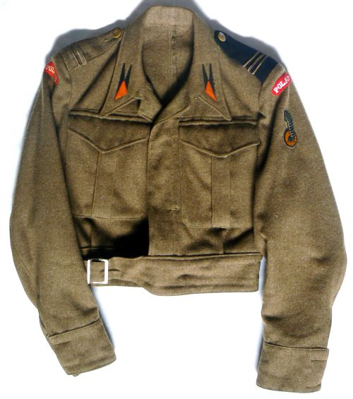 Battle-dress de caporal-chef affecté à l'état-major de la division