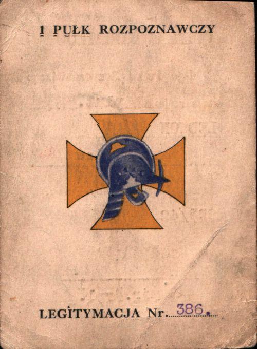 Legitymacja de l'escadron indépendant CKM