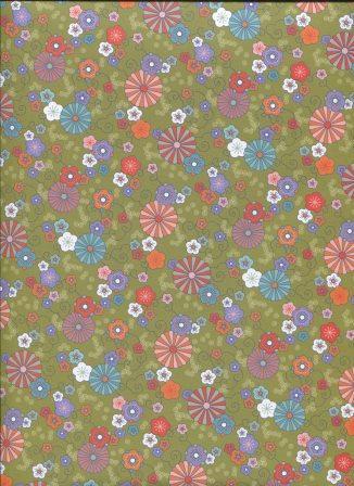 fleur du japon fond vert - l'art et création.jpg