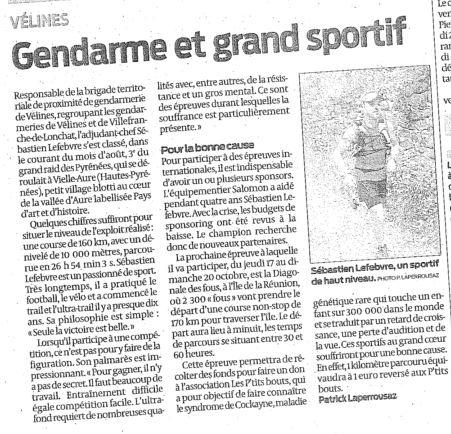 Article Sud Ouest Dordogne Aout.JPG