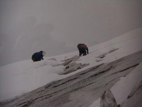 sur les dalles verglacées , du mixte délicat  !!