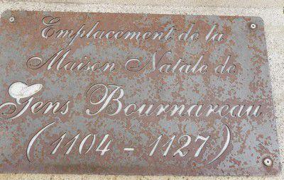 Plaque de la maison natale de Saint-Gens à Monteux