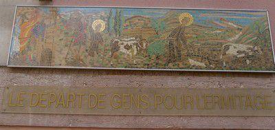 Départ de Gens pour l'hermitage à Monteux