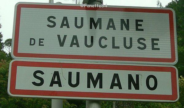 Panneau de Saumane en Provençal