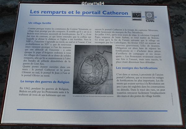 Panneau explicatif Eglise Saint Pierre à Bédoin