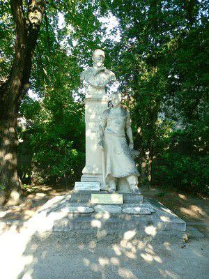 Statue Agricol Perdiguier au  Square  ST Martial à Avignon