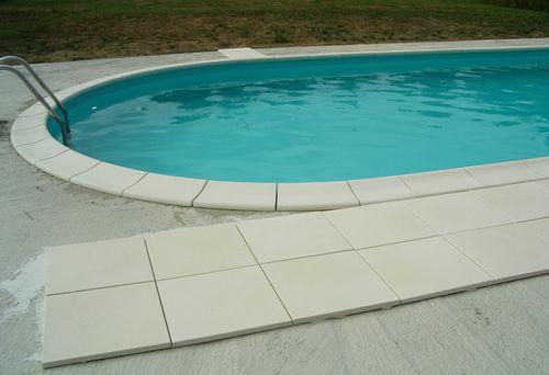 margelles pos es montage de notre piscine waterair. Black Bedroom Furniture Sets. Home Design Ideas