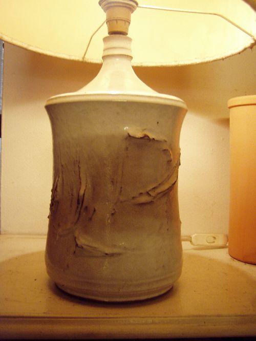 pied de lampe vers 1965 vallauris c ramique ceramistes poterie. Black Bedroom Furniture Sets. Home Design Ideas
