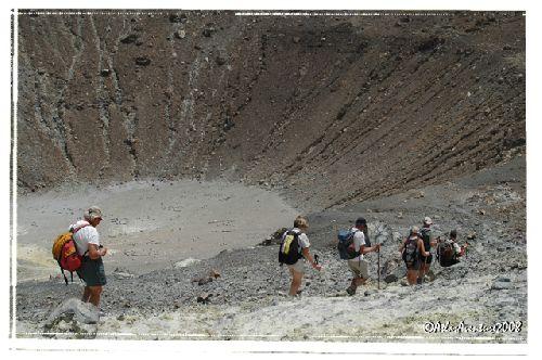 Descente au fond du cratère