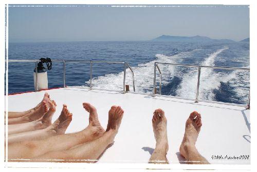 Avant le Stromboli, doigts de pied en éventail ...