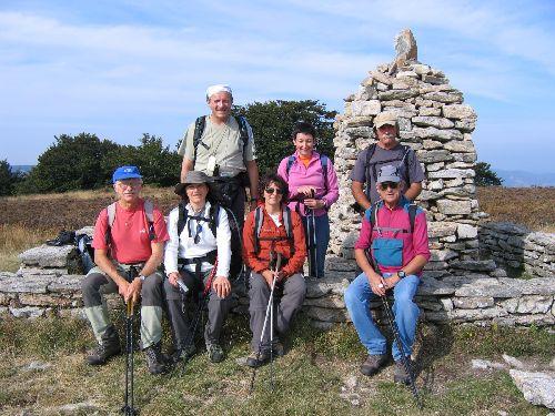 Le groupe au sommet du Caroux...