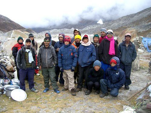 L'équipe népalaise, ingrédient indispensable à la bonne réussite de cette aventure...