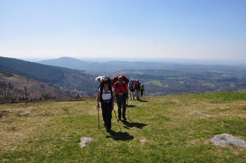 Arrivée au sommet du Suc au May...