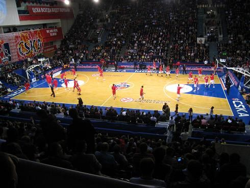 Match d'Euroligue entre le CSKA et l'Olympiakos