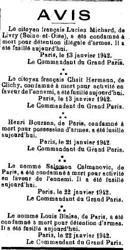 LA VEND2E REPUBLICAINE  26 01 1942 BLAISE L .JPG