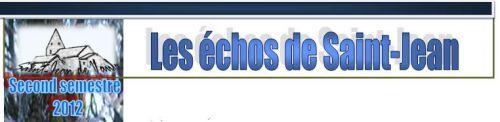 Icone Echos Second semestre 2012
