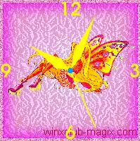 winx clock stella believix horloge