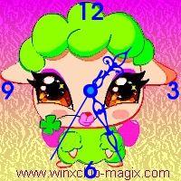 winx clock belle pet