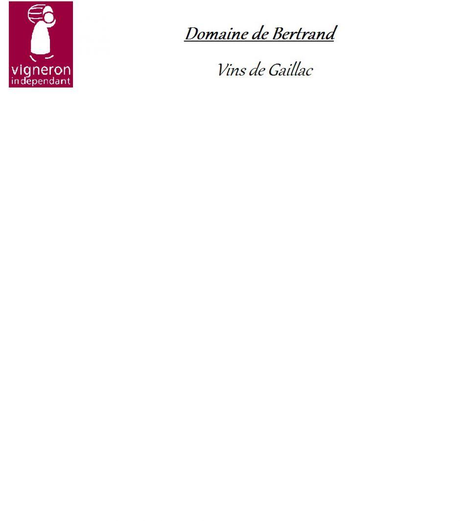 Domaine de Bertrand, vins de Gaillac