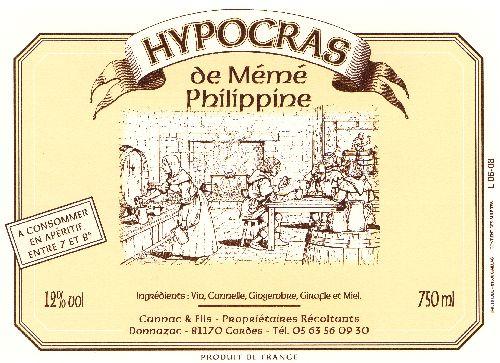 Hypocras de Mémé Philipine