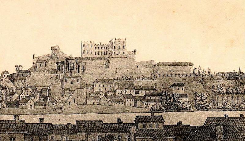 Saint-Chamond_(Loire)_château_des_seigneurs_de_et_église_collégiale_sur_la_colline_Saint-Ennemond_gravure_1644.jpg