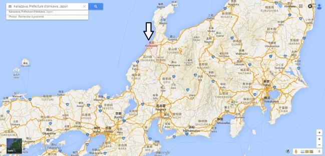 Kanazawa  Préfecture d Ishikawa   GoogleMaps-001.jpg