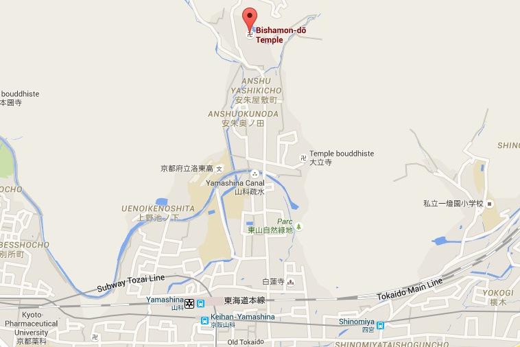 Bishamon dō Temple毘沙門堂   GoogleMaps-001.jpg