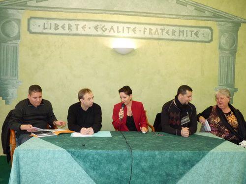 Conférence de presse avec Madame NARDUCCI, Maire de Secteur sur l'insécurité