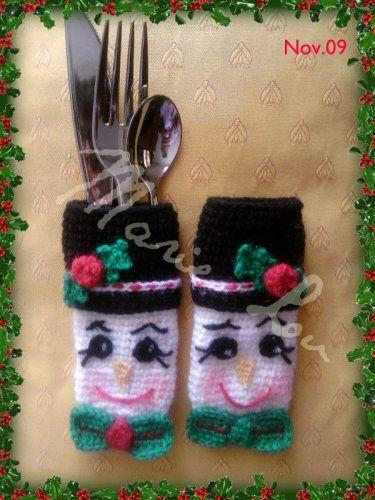 Crochet plaisir - Porte couvert noel ...