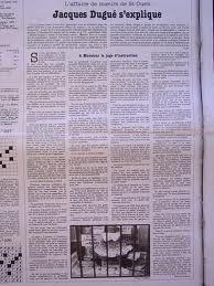 Tribune de Jacques Dugué dans Libération