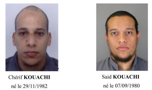 La fraterie Kouachi, Saïd et Cherif. Auteurs de l'attaque contre Charlie Hebdo le 7 janvier 2015