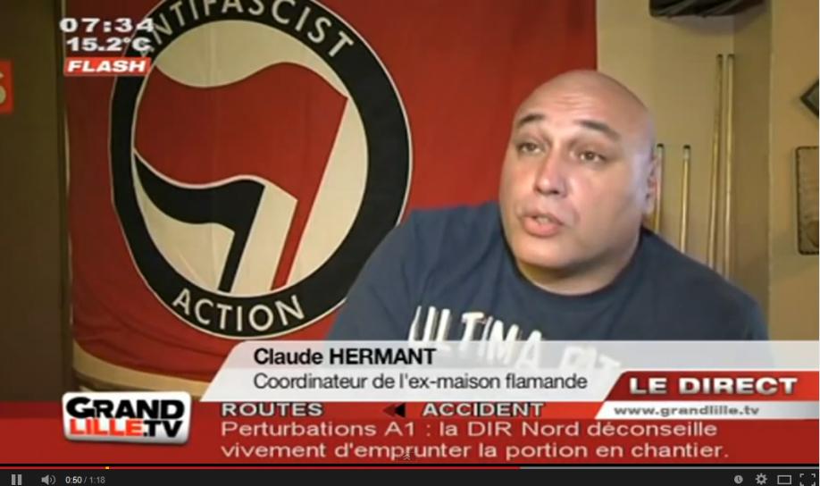 Claude Hermant lors d'une interview à l'époque de La Maison du peuple flamand.