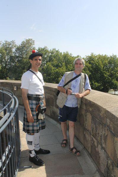 Bernard et Reun sur les remparts du Château des Ducs de Bretagne