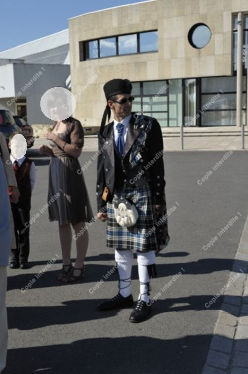 Reun JEZEGOU in kilt with the marriage of my nephew Lionel YVEN