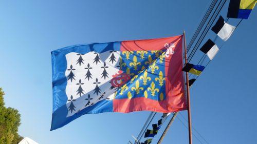 Armoiries (drapeau) du Marquis de Goulaine