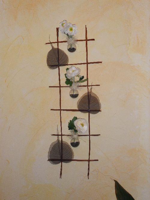 Photos lampes et autres objets en bois flott objets en carton porte bijo - Echelle decorative bambou ...
