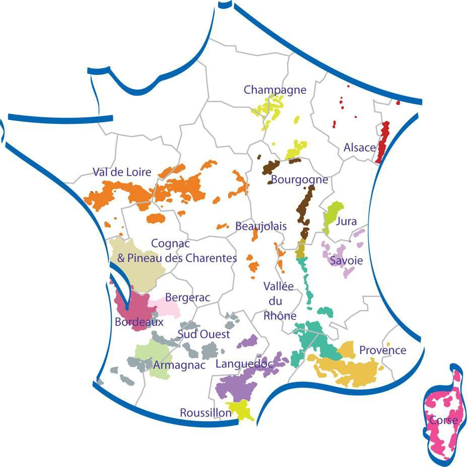 Super Infos sur : carte des appellations viticoles francaises - Arts et  FF23