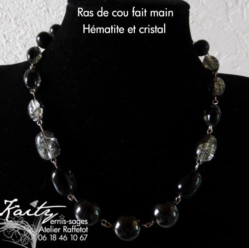 collier hématites et perles verre noir et argentée.jpg