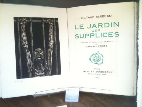 Oppression et libert librairie auguste blaizot blog - Octave mirbeau le jardin des supplices ...