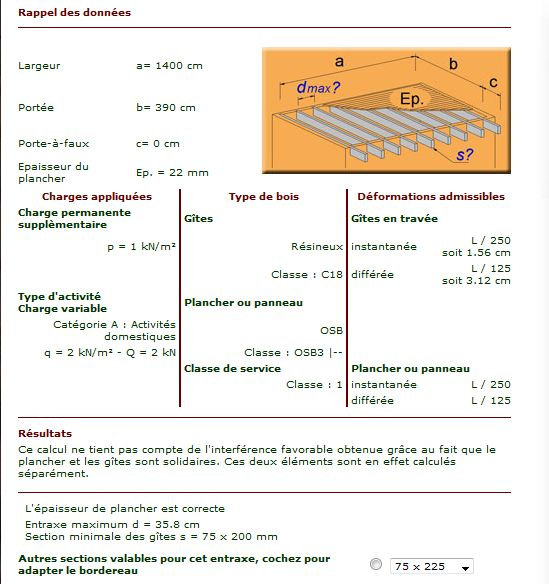 Dalle en bois et section solives page 2 auto construction les forums de - Section de poutre pour plancher ...