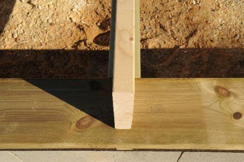 Mise en place de la dalle en bois et du plancher osb 3 provisoire autoconstruction maison en - Plancher bois osb ...